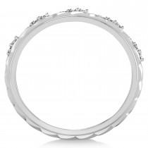 Men's Diamond Braided Band Eternity Ring Palladium (0.20ct)