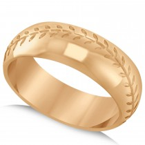 Men's Baseball Eternity Sports Band Ring 14k Rose Gold