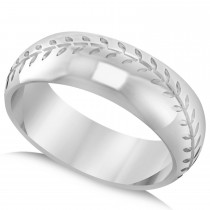 Men's Baseball Eternity Sports Band Ring 14k White Gold