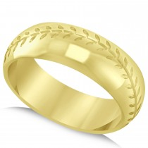 Men's Baseball Eternity Sports Band Ring 14k Yellow Gold