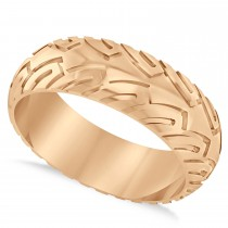 Men's Road Racing Eternity Sports Band Ring 14k Rose Gold