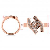Diamond Double Horseshoe Men's Ring 14k Rose Gold (0.66ct)