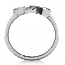 Diamond Double Horseshoe Men's Ring 14k White Gold (0.66ct)|escape