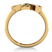 Diamond Double Horseshoe Men's Ring 14k Yellow Gold (0.66ct)
