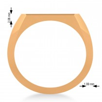 Men's Jerusalem Cross Signet Ring 14k Rose Gold