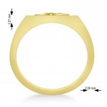 Men's Celtic Knot Signet Ring in 14k Yellow Gold