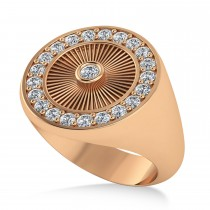 Men's Halo Diamond Fashion Ring 14k Rose Gold (0.68ct)