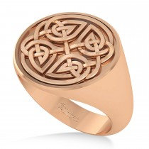 Men's Celtic Knot Fashion Ring 14k Rose Gold