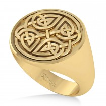 Men's Celtic Knot Fashion Ring 14k Yellow Gold