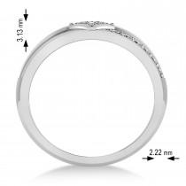 Diamond Gents Ring/Wedding Band For Men 14k White Gold (0.30ct)
