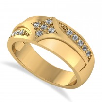 Diamond Gents Ring/Wedding Band For Men 14k Yellow Gold (0.30ct)