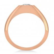 Men's Diamond Gypsy Ring 14k Rose Gold (1.00ct)