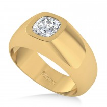 Men's Diamond Gypsy Ring 14k Yellow Gold (1.00ct)