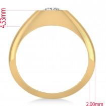Men's Diamond Gypsy Ring 14k Yellow Gold (1.00ct)