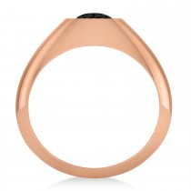 Men's Black Diamond Gypsy Ring 14k Rose Gold (1.00ct)|escape