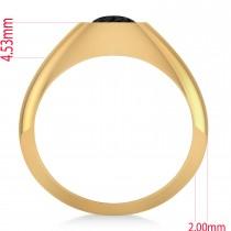Men's Black Diamond Gypsy Ring 14k Yellow Gold (1.00ct)