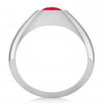 Men's Ruby Gypsy Ring 14k White Gold (1.00ct)|escape