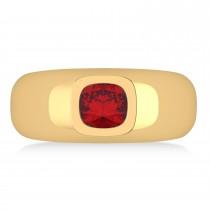 Men's Ruby Gypsy Ring 14k Yellow Gold (1.00ct)