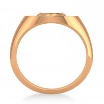 Men's Anchor Signet Ring 14k Rose Gold