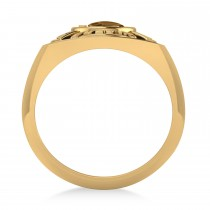 Fire Department Badge Ring 14k Yellow Gold