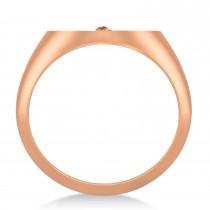 Emergency Medical Technician EMT Symbol Signet Ring 14k Rose Gold