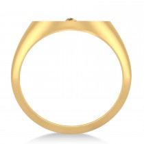 Emergency Medical Technician EMT Symbol Signet Ring 14k Yellow Gold