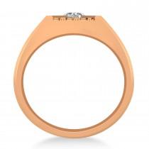 Men's Textured Diamond Fashion Ring 14k Rose Gold (0.50 ctw)