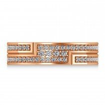Diamond Strand Men's Ring/Wedding Band 14k Rose Gold (0.54ct)