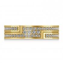 Diamond Strand Men's Ring/Wedding Band 14k Yellow Gold (0.54ct)