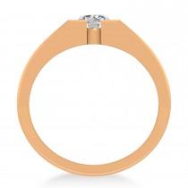 Men's Diamond Solitaire Fashion Ring 14k Rose Gold (1.00 ctw)