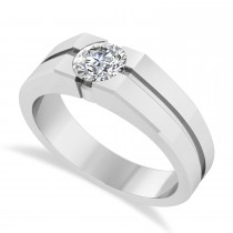 Men's Diamond Solitaire Fashion Ring in 14k White Gold (1.00 ctw)