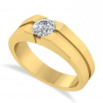 Men's Diamond Solitaire Fashion Ring 14k Yellow Gold (1.00 ctw)