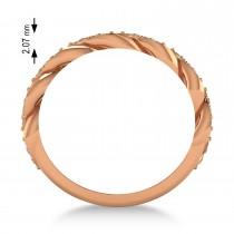 Diamond Novelty Chain Men's Ring 14k Rose Gold (0.63ct)