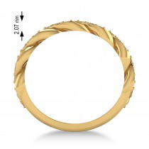 Diamond Novelty Chain Men's Ring 14k Yellow Gold (0.63ct)