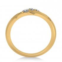 Diamond Celtic Men's Ring/Wedding Band 14k Yellow Gold (0.30ct)