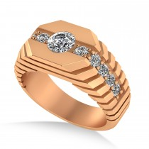 Diamond Chest Men's Ring/Wedding Band 14k Rose Gold (1.20ct)