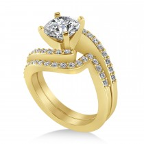 Diamond Accented Tension Set Bridal Set 14k Yellow Gold (2.51ct)
