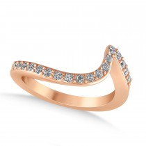 Diamond Accented Tension Set Wedding Band 14k Rose Gold (0.18ct)