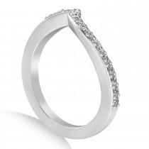 Diamond Accented Tension Set Wedding Band 14k White Gold (2.34ct)