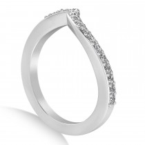 Diamond Accented Tension Set Wedding Band 18k White Gold (2.34ct)