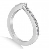 Diamond Accented Tension Set Wedding Band Platinum (2.34ct)