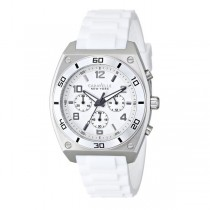 Caravelle Men's Black & White Collection Stainless Steel Chronograph Watch