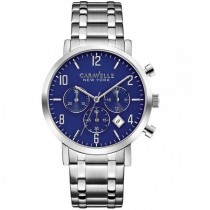 Caravelle Men's Nautical Collection Chronograph Stainless Steel Watch