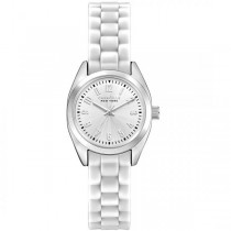 Caravelle Women's Mini Brights Collection White Band Metal Watch