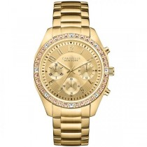Caravelle Women's Gold Tone Stainless Steel Chronograph Watch