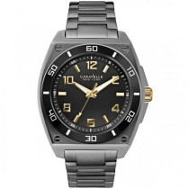 Caravelle Men's Shades of Grey Collection Stainless Steel Watch