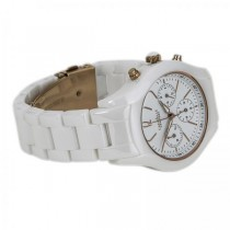 Caravelle Women's White Chronograph Ceramic Watch