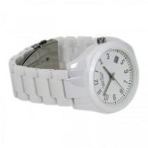 Caravelle Women's White Ceramic Watch