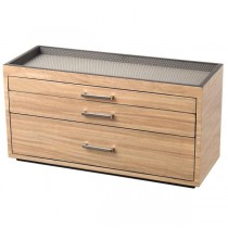 WOLF Meridian Wooden Modular 3 Drawer Dresser Valet & Watch Storage Box in 3 Colors