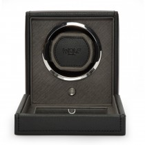 WOLF Cub Single Watch Winder w Cover in Black